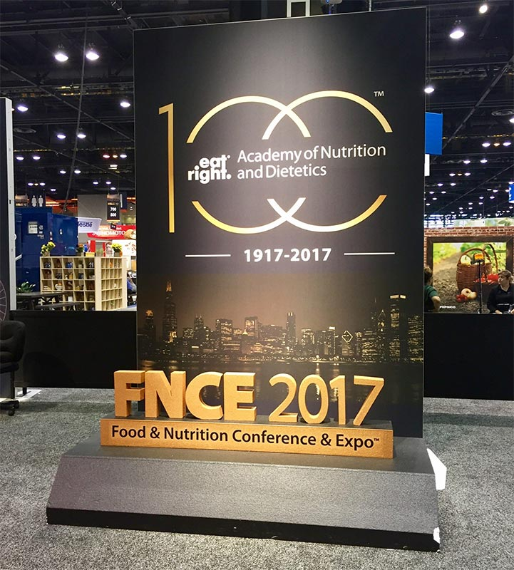 FNCE: Food & Nutrition Conference & Expo by the Academy of Nutrition & Dietetics. This sign shows that the AND and FNCE are 100 years old! This blog is about SLPs learning to collaborate in dysphagia field with dietitians.