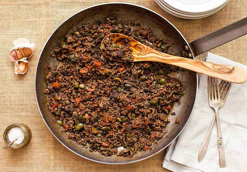 Ground beef recipes for people with dysphagia (swallowing problems)