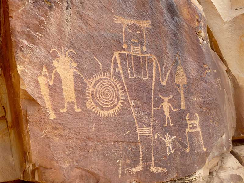 """Art is older than science! Perhaps over 1000 years ago an artist of the """"Fremont"""" people created this! Photo taken by Karen Sheffler of petroglyphs at Dinosaur National Monument, Utah."""