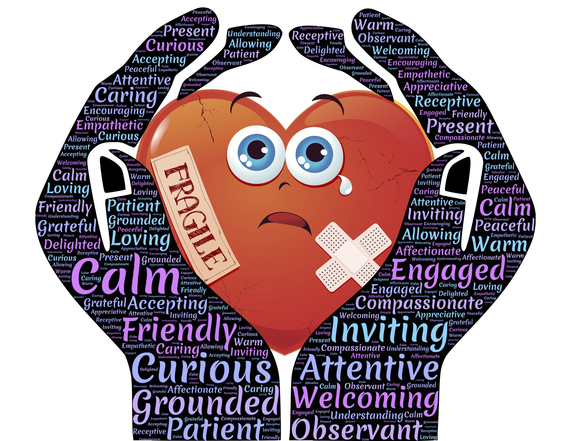 Caregiver hands. Caring for a fragile person can be very challenging. We need caring for caregivers now. We have to remember that caring for caregivers during COVID-19 is so important so they can stay strong and compassionate during stressful times.