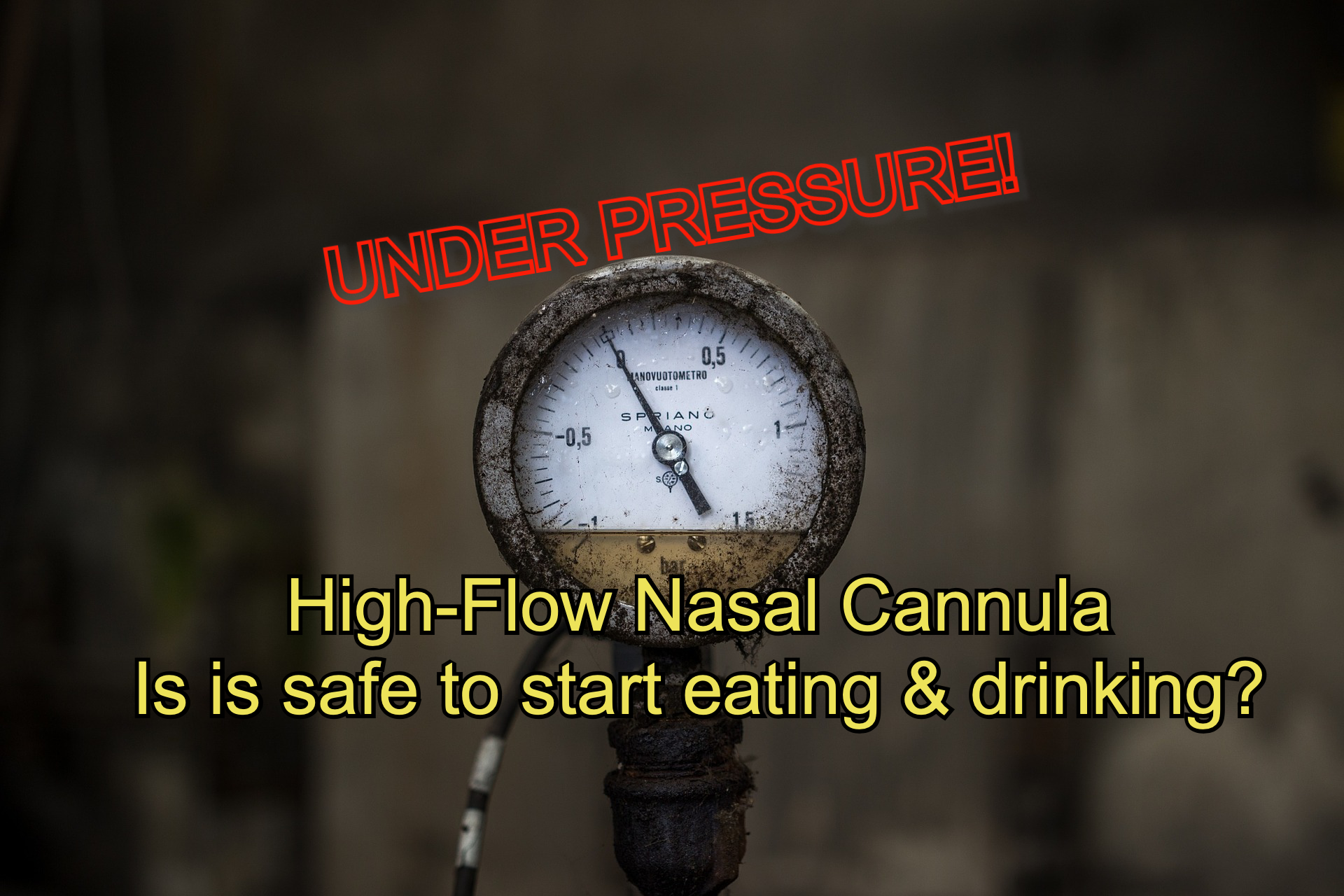 With HFNC: as the airflow increases, so does the pressure in the nasopharynx